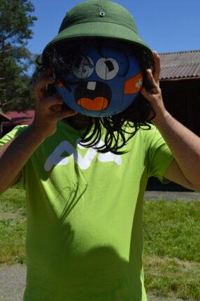 Maska na škole v přírodě