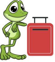 Žabák Avák a kufříček